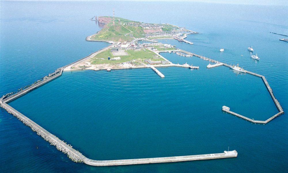 Insel vom Hafen