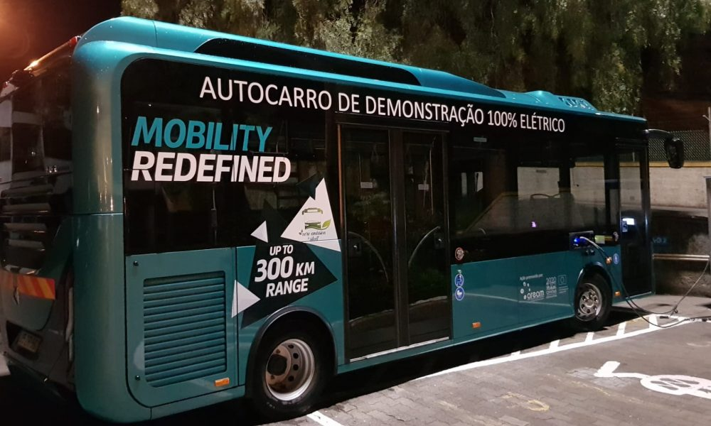 Electric buses in operation in Funchal, Madeira