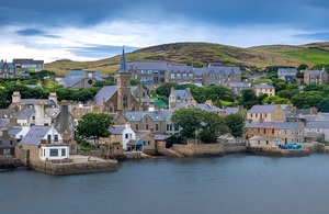 Stromness locally, the second-most populous town in Orkney, Scotland.