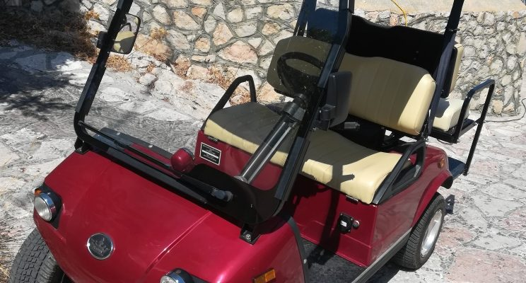 Electric car used on the island od Chalki.